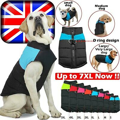 UK Waterproof Puppy Warm Coat Pet Small Dog Cat Zip Coat Jacket Clothes Apparel