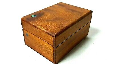 Treen Wood & Mother of Pearl Vintage Antique Small box