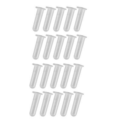 20 Packs Plastic 5ml Graduated Centrifuge Test Tubes Containers No Leakage