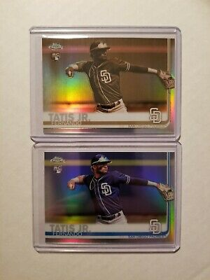 2019 Topps Chrome Fernando Tatis Jr RC 17 Card Lot (1 Sephia, 1 RC Ref, 15 base)