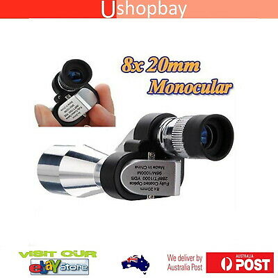 Monocular Telescope Mini Pocket 8X20 Fully Coated Optics with 8X Magnifier