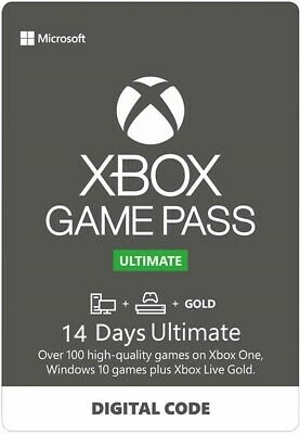 Xbox Game Pass Ultimate 14 Days Membership Code key for Xbox One & win 10