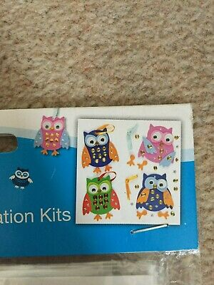 OWL JEWEL DECORATION CRAFT KITS NO GLUE REQUIRED - Makes 3 - Baker Ross