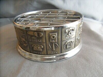 Vintage History of Telephones Ashtray or Coaster, Very Cool!