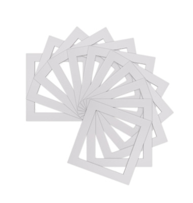 Pack of 5 White  Square Picture Photo Mounts/ Photo Frames Various Sizes Bespo