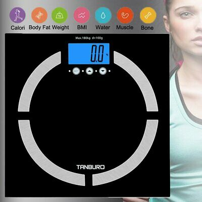 USA Digital Body Weight Scale 400lb Bathroom Fat Health BMI Muscle Calorie Scale