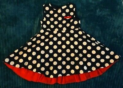 girls EVIE ANGEL DRESS AGE 2 YEARS lined NAVY and WHITE POLKA CHRISTMAS OUTFIT
