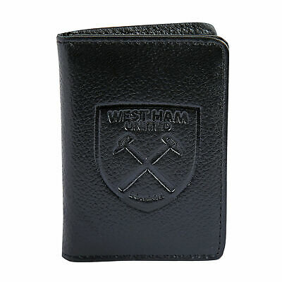 West Ham United FC Official Gift Embossed Crest Leather Travel Wallet
