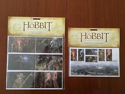 Timbres The Hobbit (Lord of the ring) 2012 RARE - Unexpected Journey (scellé)