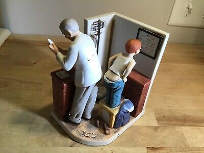 1978 Norman Rockwell at the doctors office figurine Dave  Grossman Japan