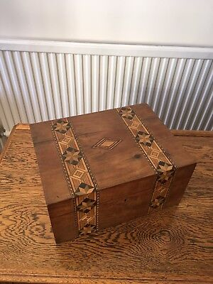 Antique Victorian Inlaid Jewellery Box Tunbridge Ware