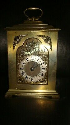 Rare Vintage SOLID BRASS English ROTHERHAMS Bracket Clock