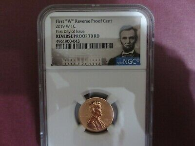 2019 W Lincoln Cent Penny Ngc Pf70Rd Reverse First Day Issue Proof Lincoln