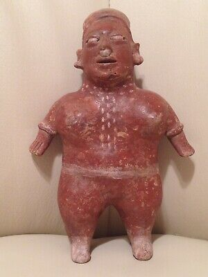 "Pre-Columbian Jalisco Female Pottery Effigy Figure 8 1/2"" Rare Serene Visage !!"