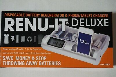 Viatek Renu-It Deluxe Disposable Battery Regenerator & Phone/Tablet Charger RE04