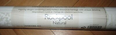 Unopened Roll of Laura Ashley Wallpaper: ROCKPOOL Natural
