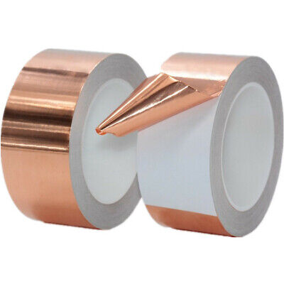 Conduction Tape Single//bidirectional Slug Foil 3-50mm 20m Uk Copper Adhesive