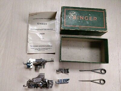 Vintage 1947 Singer Simanco 221 Sewing Machine Attachments 121897 160359 manual