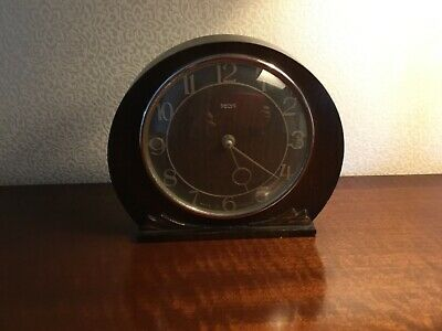 Smiths Vintage Art Deco Mantel Clock Mechanical, 30 Hour. Original