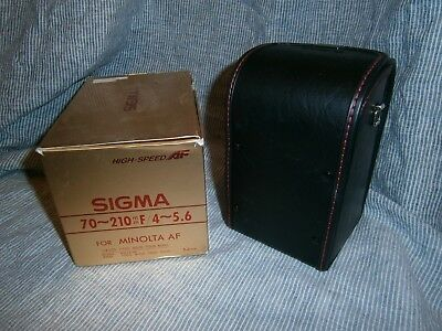 Vintage Padded Hard Sigma Camera Lens Cover Case w/ strap  70-210mm