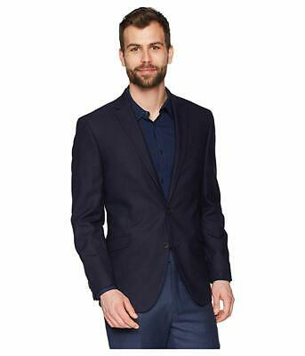$600 Kenneth Cole Reaction Men's Stretch Modern Fit Blue Suit Jacket Size 42S