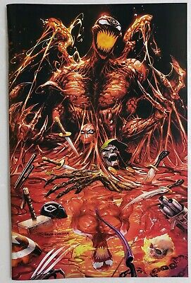Absolute Carnage 1 Variant Kirkham Virgin Nm 🔥 Venom Spider-Man Spider-Man