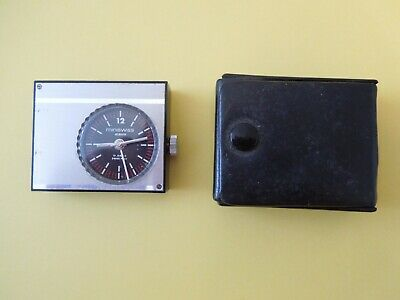 Classic 1970's iconic Miniswiiss alarm clock for spares or repair . Not working