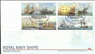 GB 2019 Royal Mail Royal Navy Ships Heroes Challenge BFPS P/M FDC Unaddressed
