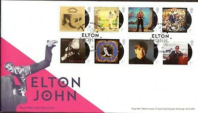 GB 2019 Royal Mail Elton John set First Day of Issue  P/M FDC Unaddressed