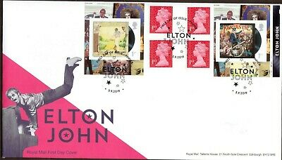 GB 2019 Royal Mail Elton John R/Book First Day issue P/M FDC Unaddressed