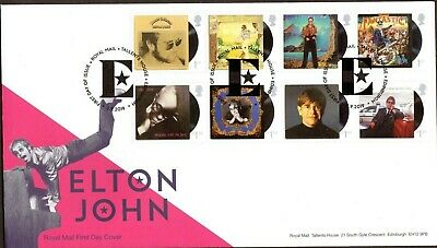 GB 2019 Royal Mail Elton John set Edinburgh P/M FDC Unaddressed
