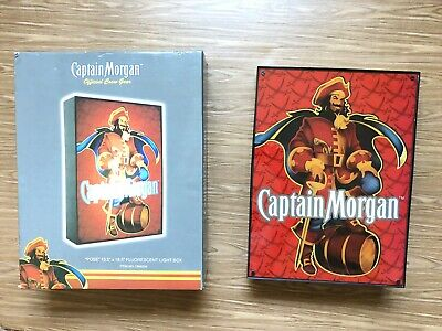 "CAPTAIN MORGAN ""Pose"" Fluorescent Light Box 2007 Official Crew Gear ZY-DX01 Work"