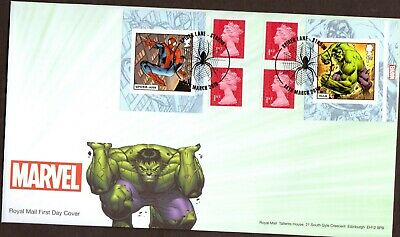 GB 2019 Royal Mail Marvel Super Heroes Retail Book Stroud P/M FDC Unaddressed