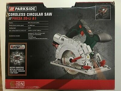 Parkside Cordless Circular Saw With 20V Lithium-ion 2x 2ah battery and charger