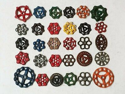30 *C Vintage Water Faucet Knob Valves Handle Steampunk Industrial Arts Crafts