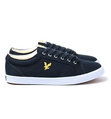 Lyle and Scott Halket Trainers Size UK 7 Brand New With Box EU 41 Canvas Navy