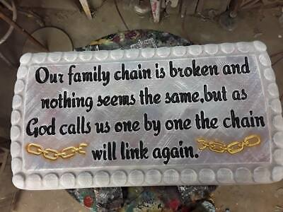 Family Chain Memorial bench top mold Concrete bench mold bench top