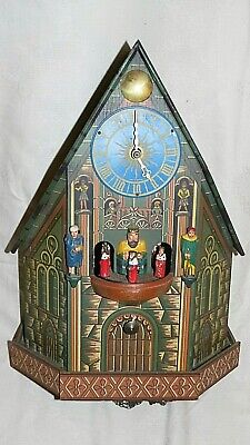 Very Rare Kings & Knights Cuckoo Clock by E. Schmeckenbecher, Spares or Repair
