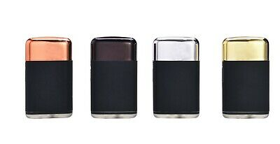 Windproof Lighter Turbo Jet Gas Metal Caps Soft Touch  Cigarette Refillable