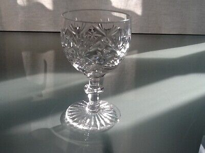 """Cut Glass Crystal Wine Goblet/ Glass.4.5"""" x2.5"""".Good Condition."""