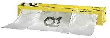 Q1 Premium Masking Clear Static Film 4M X 150M Roll Polythene Poly Mask Sheeting