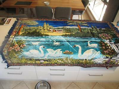 mid century wall hanging swans