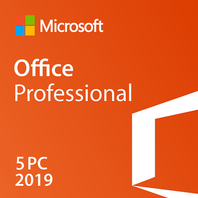 Microsoft Office Professional 2019 - 5 Pc (Retail Sealed)