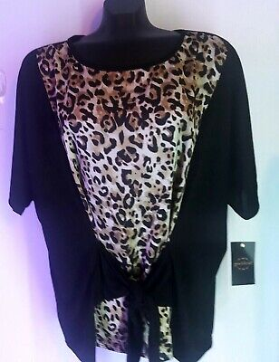 Women's Plus Size 3X 22/24 Leopard Tunic Top, New With Tag, Goddess Brand Avenue