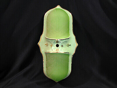 Antique ART DECO GREEN PORCELAIN KITCHEN-BATHROOM LIGHT FIXTURE - SCONCE