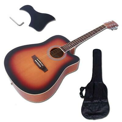 "New Glarry 41"" In Sunset Spruce Front Cutaway Folk Acoustic Guitar with Bag Tool"