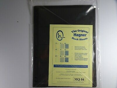 Hagner Stock Sheets Single Sided 4 Strip Packet of 10 Pages