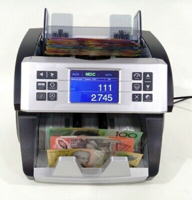"AUSCOUNT AUS1000 ""THE BOSS"" COMMERCIAL MONEY COUNTER money counting machine"