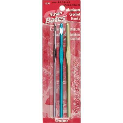 Silvalume Aluminum Crochet Hook Set - Sizes G - J