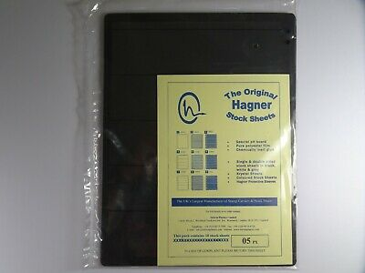 Hagner Stock Sheets Single Sided 5 Strip Packet of 10 Pages